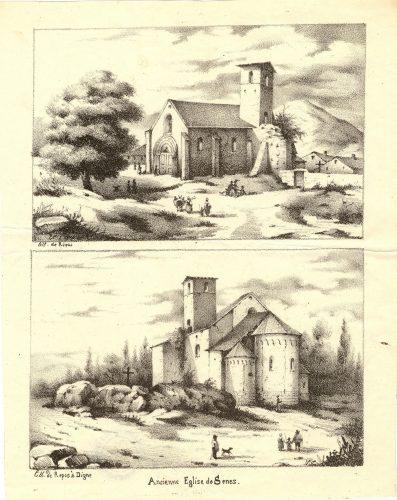 Lithographie de la cathédrale, avant 139 (AD 04)